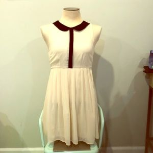 Ivory Peter Pan collar dress